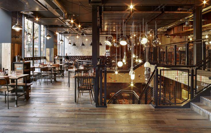 Havwoods reclaimed flooring. Cleaver Restaurant, Oxford.