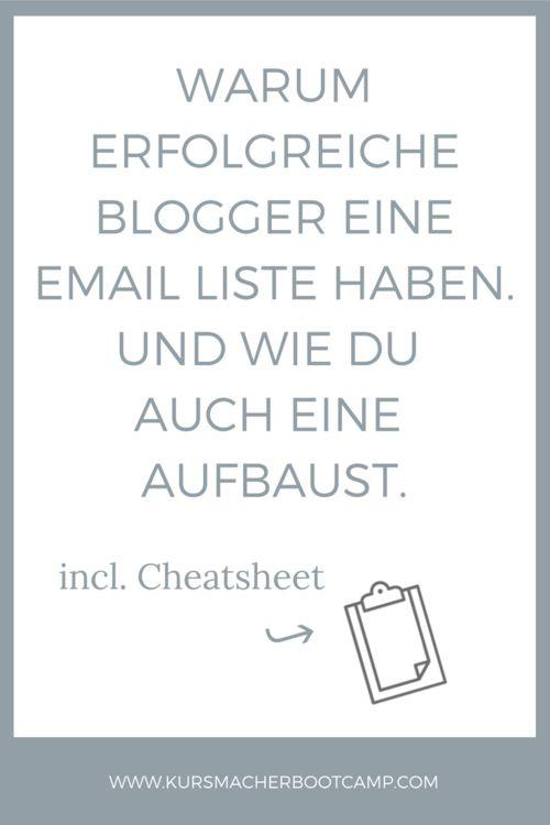 Warum du für den Blog & online Business eine Email Liste brauchst und wie genau du eine aufbaust.