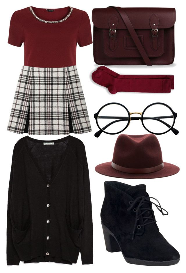 """Going Preppy to school"" by soccer-freak9 ❤ liked on Polyvore featuring The Cambridge Satchel Company, rag & bone, Retrò, Carven, Clarks and Zara"