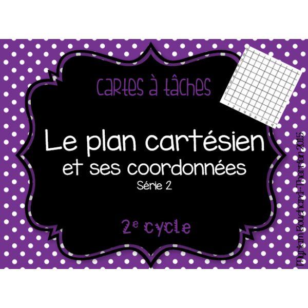 Cartes à tâches - Plan cartésien Série 2