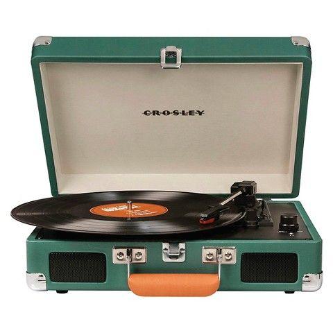 Crosley Radio Cruiser Portable Turntable Evergreen