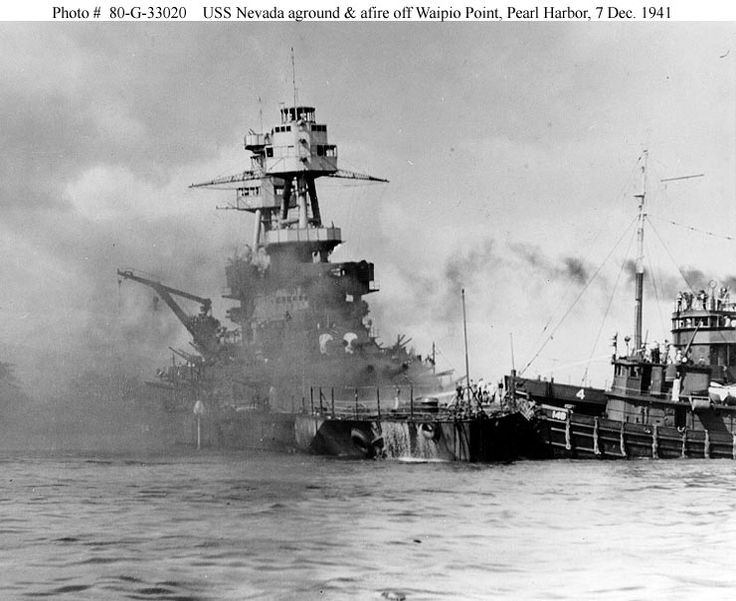 USS Nevada Pearl Harbor | USS Nevada during the Pearl Harbor Attack (Part II)