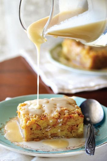 Kent Rollins' Bread Pudding With Whiskey Cream Sauce