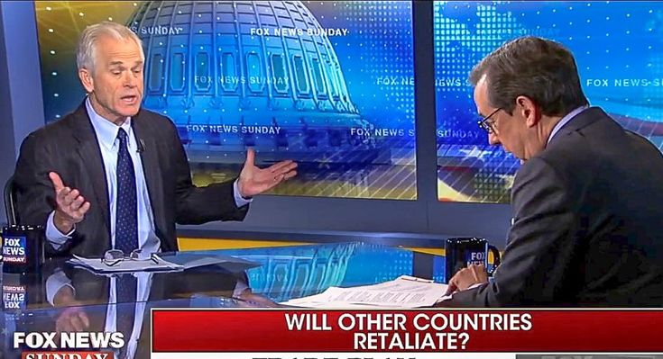 """Fox News host Chris Wallace on Sunday challenged White House trade adviser Peter Navarro about President Donald Trump's plan to start a """"trade war"""" by enacting tariffs on aluminum and steel imports. During an interview on Fox News Sunday, Wallace noted that """"the fact is"""" that Trump's tariffs would raise prices for American consumers. """"If you took, not just cars, but all the products that use imported steel or important aluminum, we're talking about a …"""