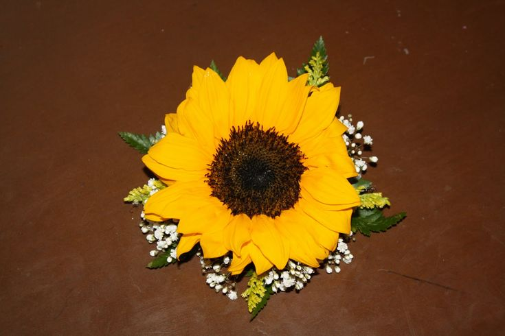 sunflower corsage for mother of the bride | Flower Girls Wrist corsage