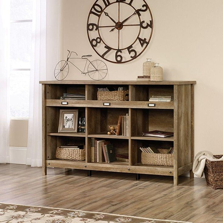 Adept Collection 36-1/4 in. x 58-1/4 in. 9-Shelf Horizontal Bookcase in Craftsman Oak