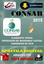 Apostila Digital Concurso Consab Operador de Maquinas Costal 2015
