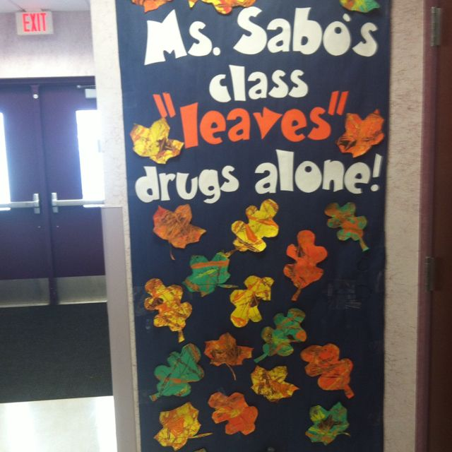 Say no to drugs board, great to use for red ribbon wk