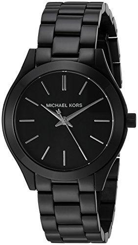 Michael Kors Women's Mini Slim Runway Black Watch MK3587 ...