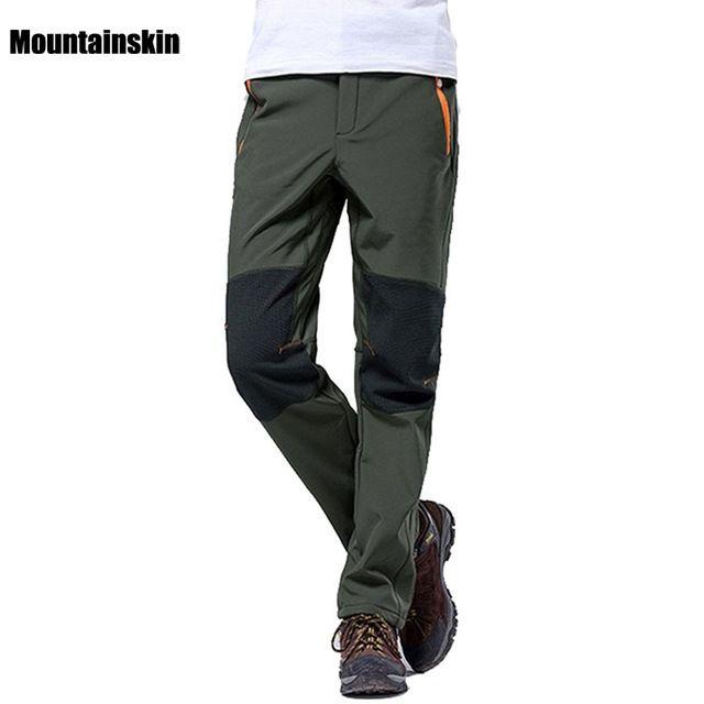 Mountainskin 4xl Men S Winter Pants Outdoor Sports Softshell Fleece Trousers Hiking Camping Trekking Ski Wa Sports Trousers Best Hiking Pants Hiking Pants Mens