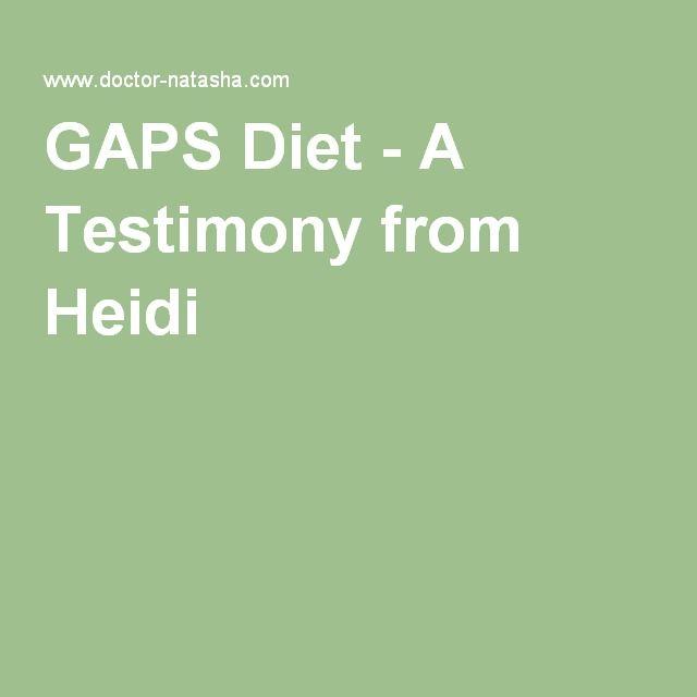 GAPS Diet - A Testimony from Heidi