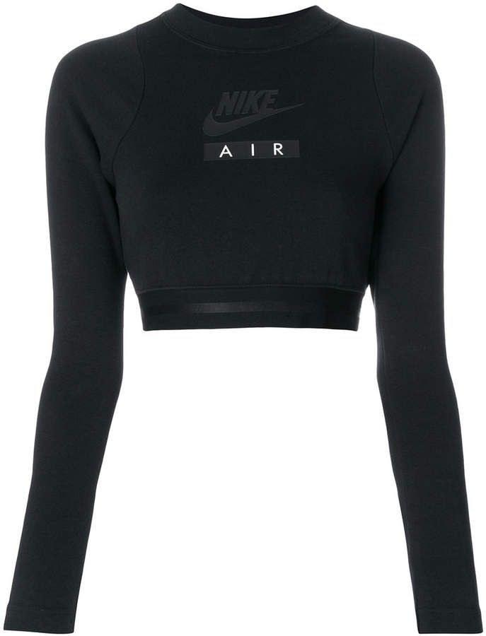 f42972d3 Nike Air Cropped Long-Sleeve Black Top #sportswear #activewear  #workoutclothes #shopstyle