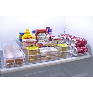 Sorbus Clear Plastic Refrigerator Drawer Organizer | Overstock.com Shopping - The Best Deals on Plastic Storage