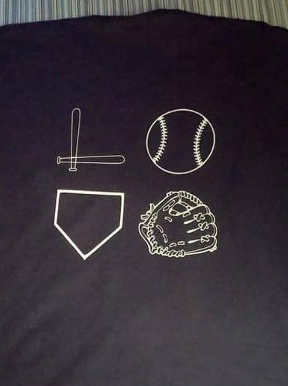 Love baseball t shirt by Showngocheerbows on Etsy