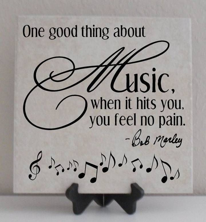 Music sooths my soul