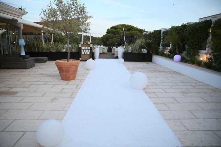 Entrada na zona de Jantar do Casamento, Dunas Douradas Beach Club, Algarve
