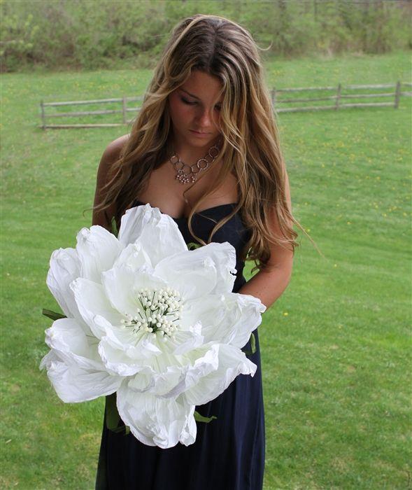 Large Paper Peonies Oversized Flowers Medium 14 Diameter 38
