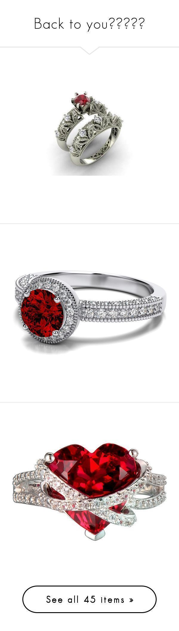 """""""Back to you❤️"""" by skh-siera18 ❤ liked on Polyvore featuring jewelry, rings, anel, diamond rings, 14k diamond ring, diamond band ring, diamond wedding rings, wedding band ring, accessories and red #diamondweddingbands #weddingrings #weddingbands"""