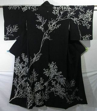 Branch Silhouette Design Houmongi Kimono