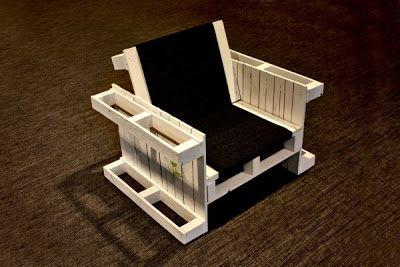 Poltrone costruiti con pallet in legno