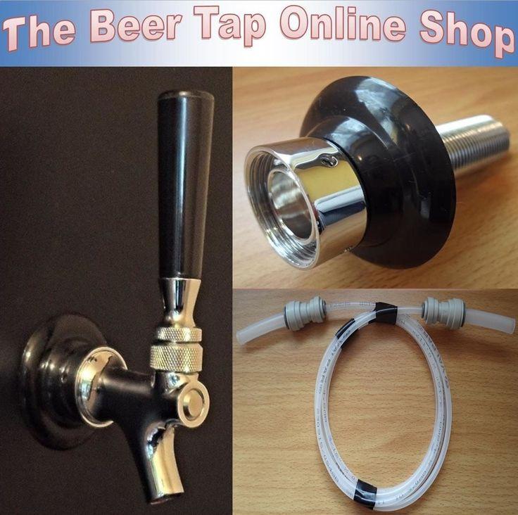 Draft beer tap #faucet & shank with beer line. #kegerator / keezer ...