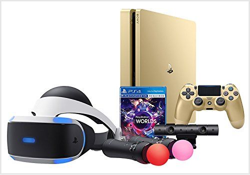 Playstation 4 VR Launch Bundle (2 items): VR Launch Bundle and PlayStation 4 Slim 1TB Gold Console