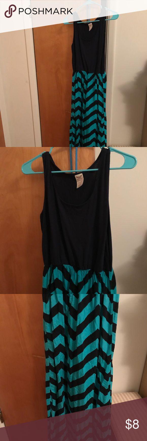 💙 Faded Glory Blue & Turquoise Maxi Dress Large Adorable maxi dress! So comfy and cute! 💙💙💙 Faded Glory Dresses Maxi