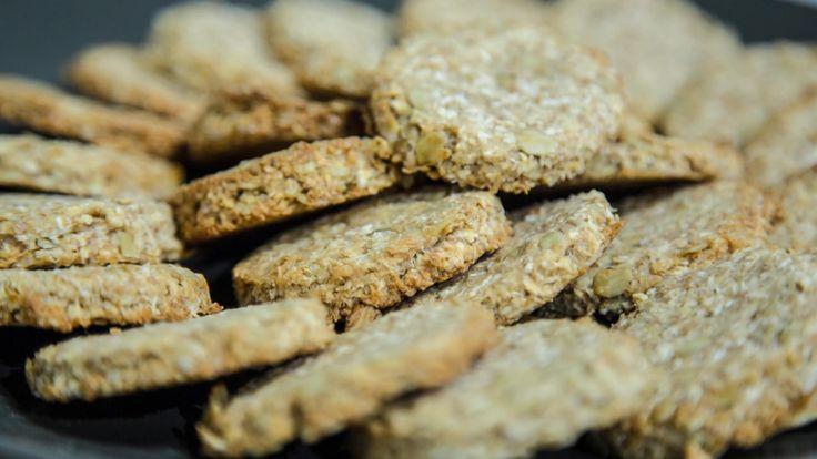 Biscotti Vegani con fiocchi d'avena e farina di cocco
