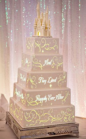 Display your happily ever after story with Disney's wedding cake image mapping…