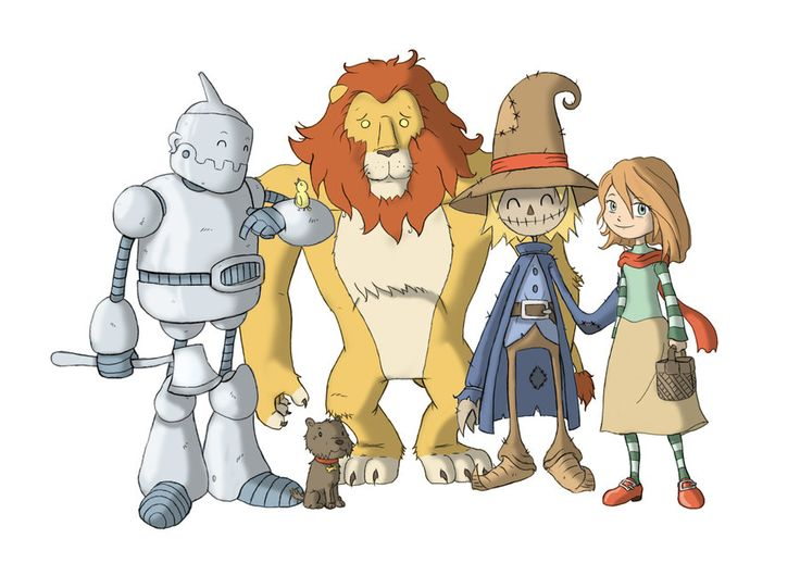 Wizard Of Oz Illustrations Wizard Of Oz Characters By