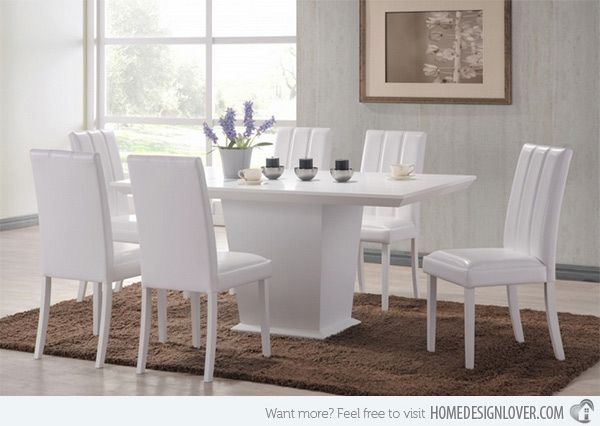 neat 15 white dining sets