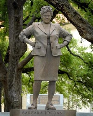 Marker- Barbara Jordan (Feb. 21, 1936 – Jan. 17, 1996) was a lawyer & a congresswoman from '72 to '78—the first African-American congresswoman to come from the deep South & the first woman ever elected to the Texas Senate (1966).