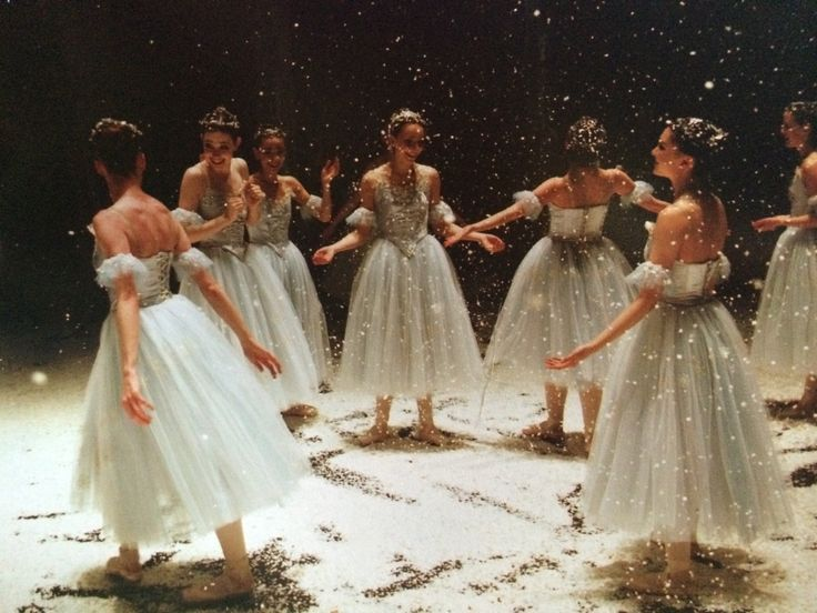 """ryanishka: """" going through some old pictures from this past year and found these gems…after the curtain closes the first act on the last show of nutcracker, it's customary to dump ALL OF THE SNOW AT..."""