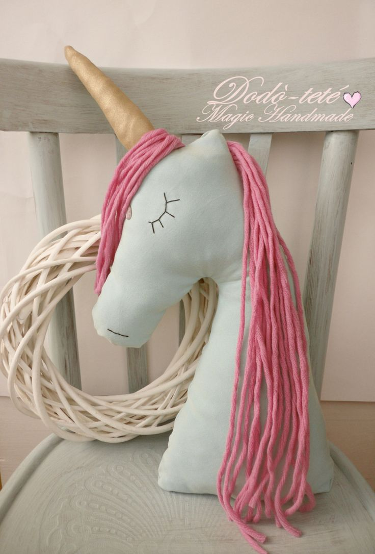 Unicorn decorative pillow nursery home decor cuscino interiors pink by Dodotete on Etsy