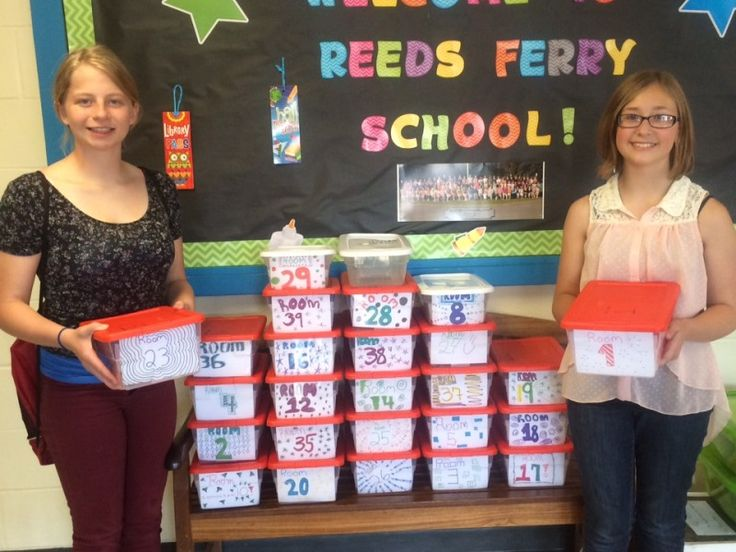 Operation Mittens borrowing boxes help Reeds Ferry School students stay warm.