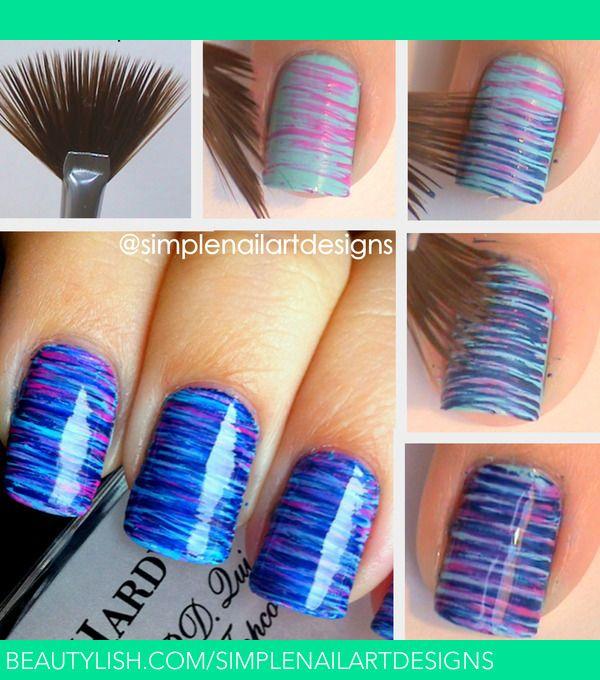 Fan Brush Nail Art Tutorial | simplenailartdesigns s.'s (simplenailartdesigns) Photo | Beautylish