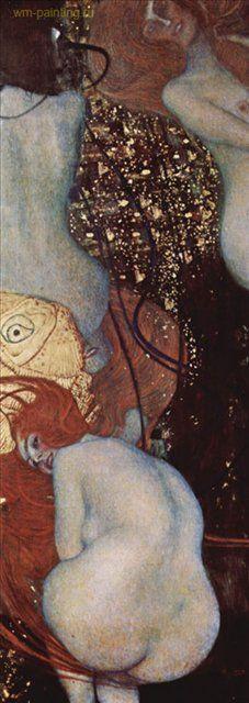 Золотые рыбки :: Густав Климт (Австрия ), картина ню, эротика в живописи  - Gustav Klimt (Климт Густав )