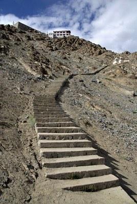 Stairway. Leh, Ladakh, Indian Himalaya