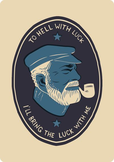 By Matt Taylor, a talented little fellow from Society 6. : Matte Taylors, Hells, Quotes, Ernest Hemingway,  Hockey Puck, Old Man, Sailors, The Sea, Sweet Tattoo