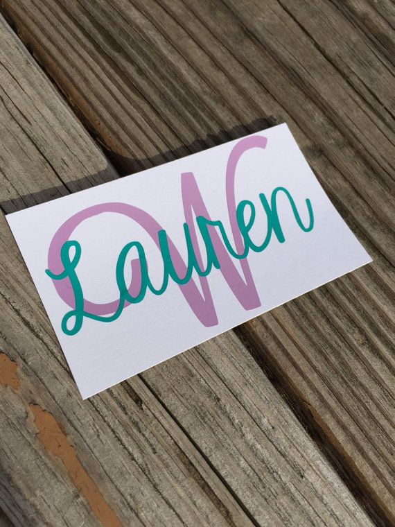Name vinyl decal this listing is for 1 personalized vinyl decal you