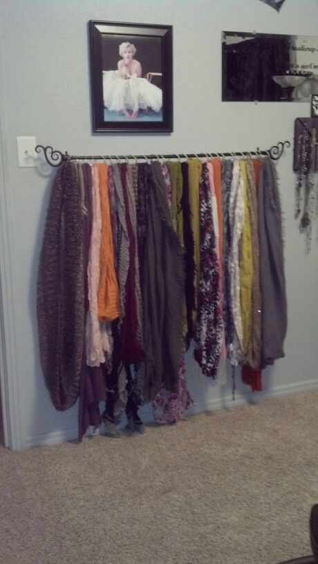 Best 25+ Hang scarves ideas on Pinterest   Hanging scarves, Curtains hooks  and Scarf organization
