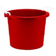 party tub with rope handles 17 gallon red at united plastics pinterest parties. Black Bedroom Furniture Sets. Home Design Ideas