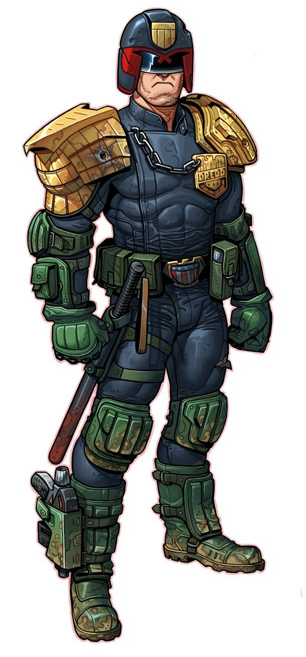 My attempt at Judge Dredd by thdark on DeviantArt