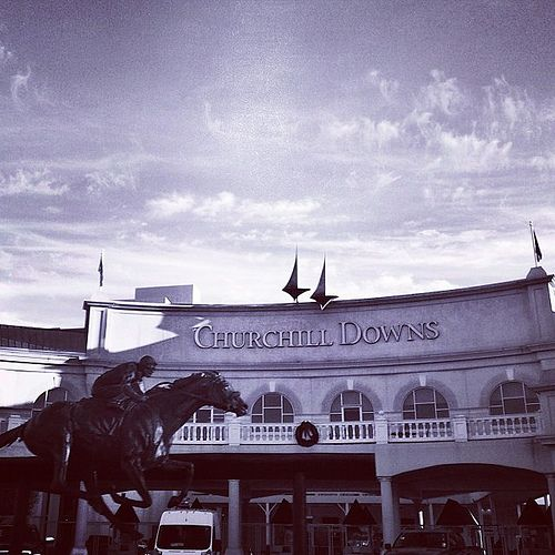 Churchhill Downs, to see the Kentucky Derby, Louisville Kentucky
