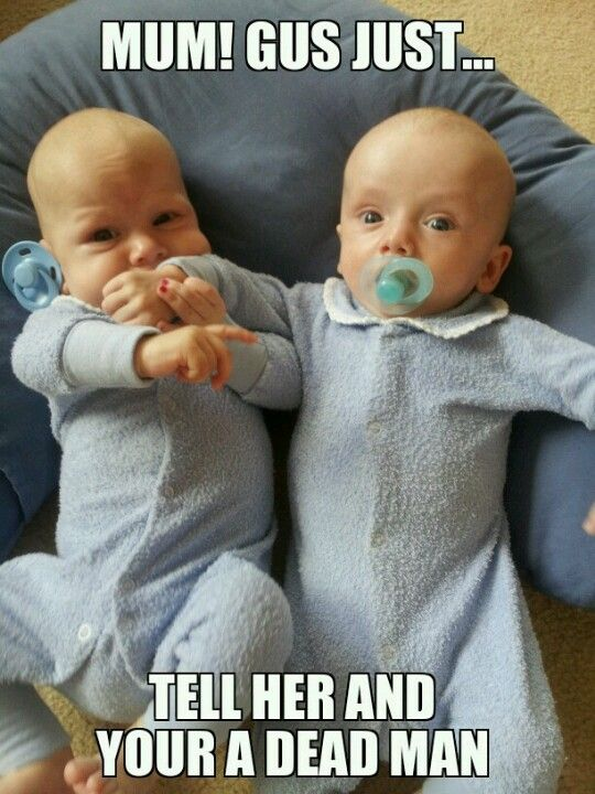 Funny twin meme Because it makes me laugh...a lot