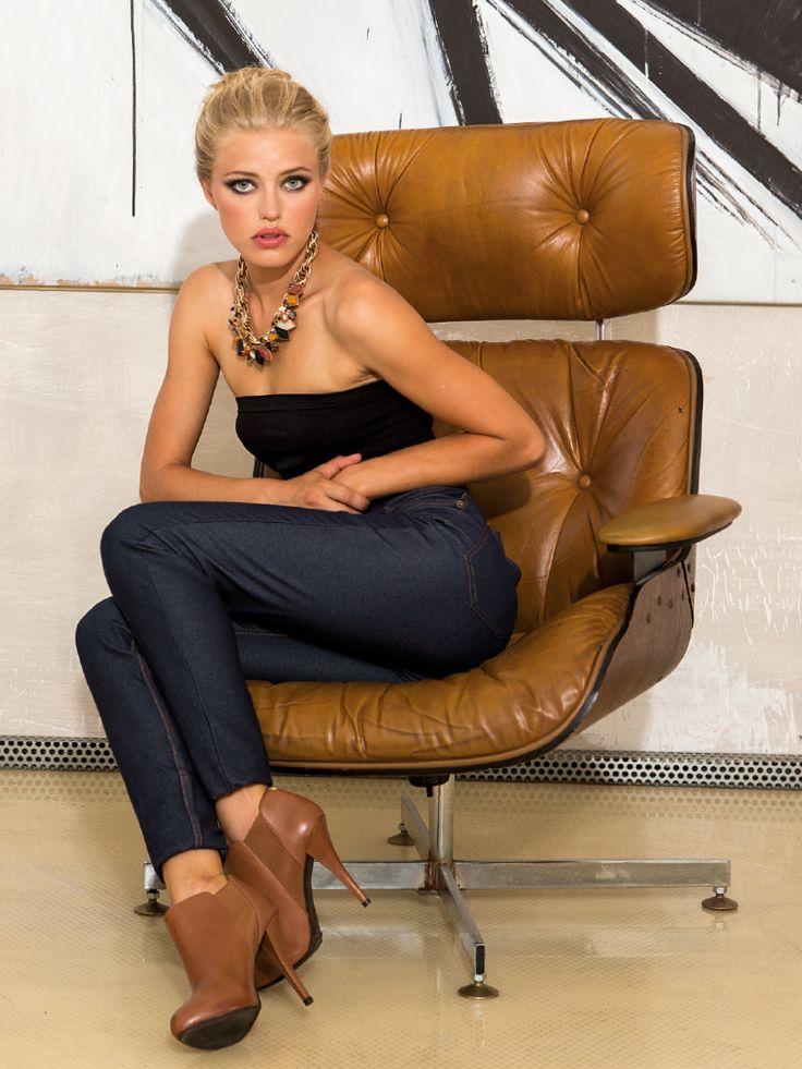 LJEA Leggings Jeans / Colore: Blu, Nero, Giallo, Prugna, Rosso, Verde
