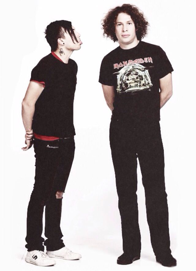 Frank Iero | Ray Toro>>>@Ellen Finnel I have a feeling that this is what you and I both look like 75% of the time