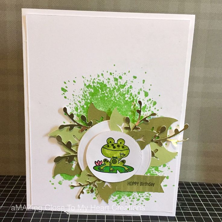 Card Making Ideas Close To My Heart Part - 22: Hoppy Birthday Frog Card - Close To My Heart Operation Smile Punny Pals.  Splash Of