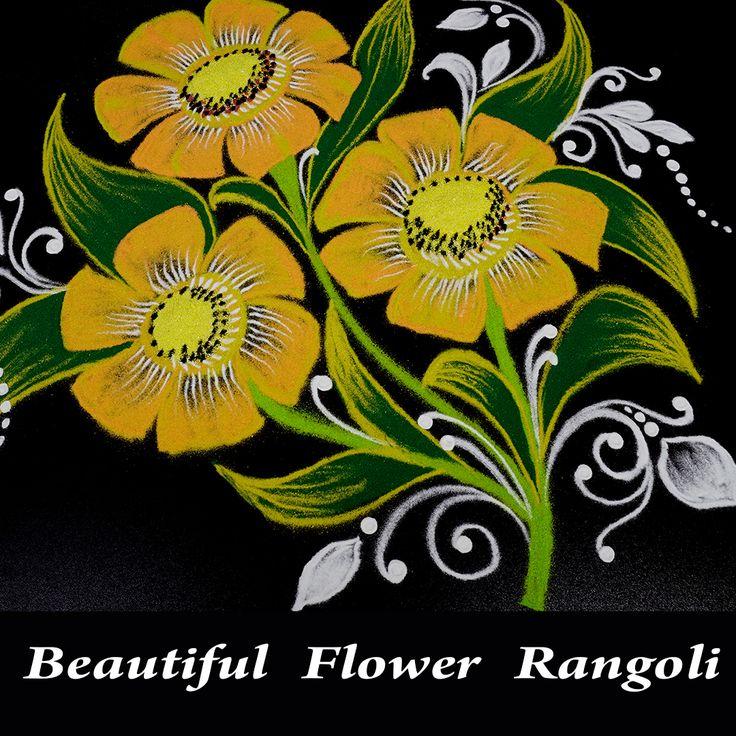Amazing Flower Rangoli Designs For Diwali Simple Flower