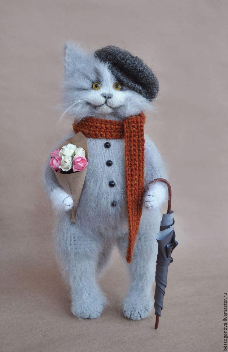 схема вязания котика пушистика